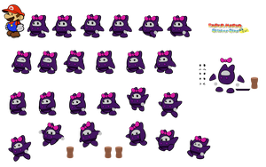 Nya (Paper Mario Sticker Star Recut) by DerekminyA