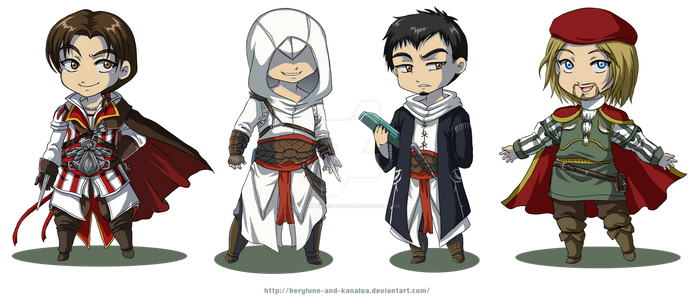 Even assassins can be cute... by Berylunee