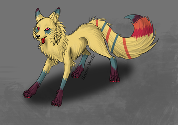 Colorful Wolf Adopt - CLOSED! by FrostDragon-Adopts
