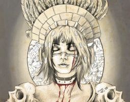 Coyolxauhqui azteca by Inker-shike