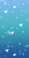 Blue Heart BG by TaNa-Jo