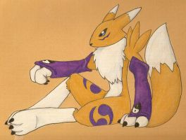 Renamon by xdigiartistx