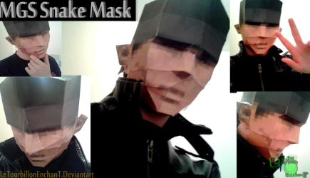 Metal Gear Solid - Snake Mask - LTE-T Papercraft by LeTourbillonEnchanT