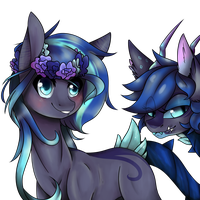 YCH- Sapphire and Pebble by CrimsonNight888