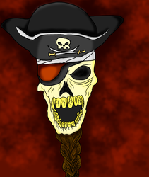 Pirate Skull by TwiggyTwix