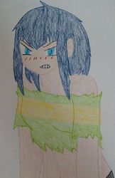 My OC as Chara by Kira1and1Light