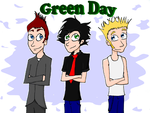 Green Day, colored by jstaricka
