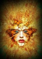 queen of butterfly by sunjaya