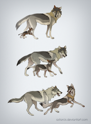 Snap and Father Wolf by Astarcis