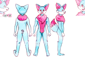 Fox Fennec reference sheet commission by Cipple