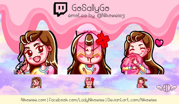Commission- Twitch Emotes- GoSallyGo by Nikowise
