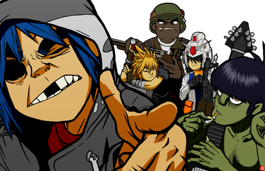 gorillaz by iX3TV