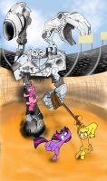 My Little Pony on the Planet Robobubloo by lefthoovesdash