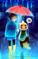 Rain and Stars - Undertale by TimelessHeaven