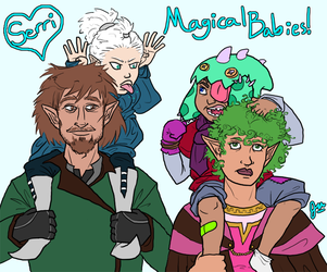 Magical Babies Are Hard to Raise by Voodoofish