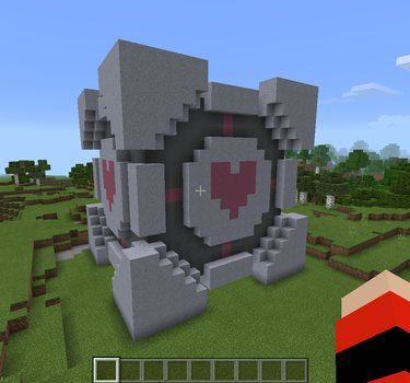 Companion Cube (Minecraft Build) by Loopy-Lass