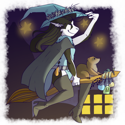 My twitchy witchy girl by PUPPYPOWER123