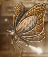 Steampunk Butterfly by Shorra