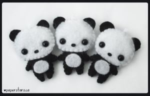Pandas by littlepaperforest