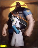Heavy and Medic wallpapper by ArtNoisi