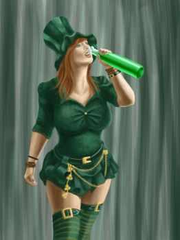 Lady Leprechaun by dragynsart