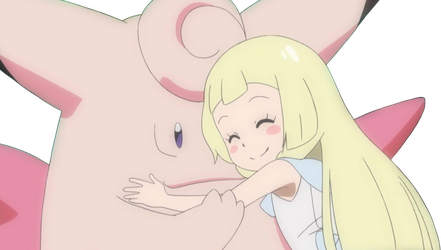Lillie and Clefable Render by AshleyTheSkitty