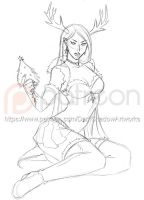 PATREON PREVIEW - Christmas Frost Giantess by DarkShadowArtworks