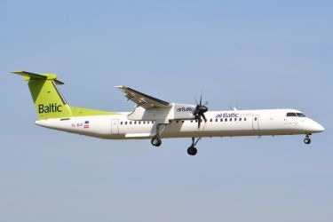 YL-BAI - Bombardier DHC-8-402Q - Air Baltic by mysterious-one