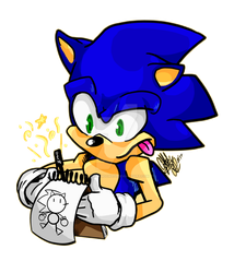 AT Sanic Draws by HoneyMoon374