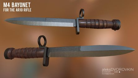 M4 Dutch Bayonet by DVOR3d