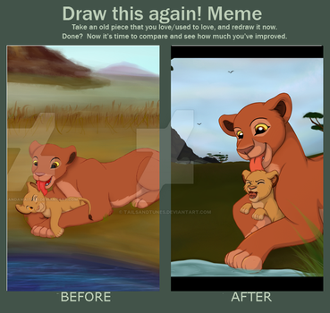 Draw This Again #1- By The Waterhole by Tailsandtunes