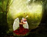 I'm not an Angel. But  I'm a flower among the thor by kungfuam