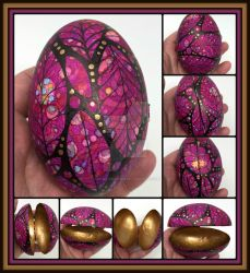 Painted Goose Egg Box