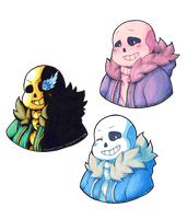 Sans Inking and Color Choice Practice by Valeweaver