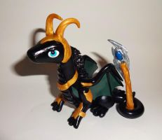 Loki Dragon Sculpture by ByToothAndClaw