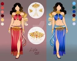 Eastern Delight| Adoptable Outfit Design AU CLOSED by LittleVioletGhost