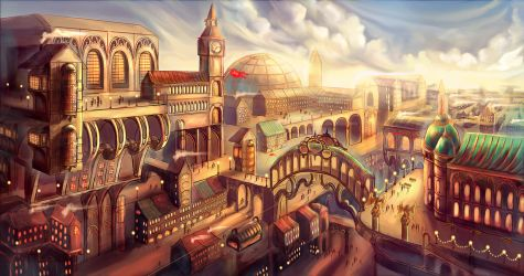 Steam Punk City by MargoAtir