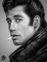 John Travolta Grease by Orb78
