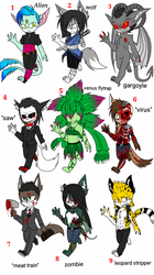 Mobian adopts open *auction* by The-Demonic-Cat-Girl