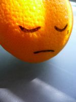 A sad orange by ChillofDepression