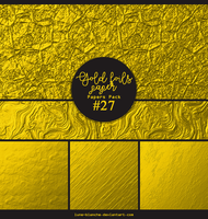 Papers pack #27 - Gold foils papers by lune-blanche