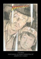 Sketch Card-Indiana Jones 30 by TrevorGrove