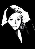 Greta Garbo by pin-n-needles