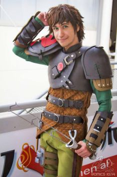 Hiccup Cosplay - HTTYD2 - Romics 2014 by EvilSephiroth89