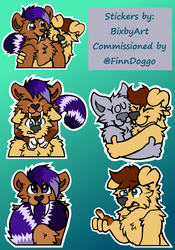 Commission: Sticker Sheet by WillowTails
