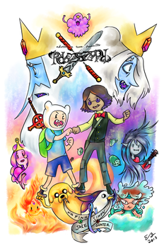 Adventure Time Reverseworld with Finn, Simon, Jake by CommanderMs