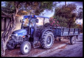 The Resting Tractor HDR by ISIK5