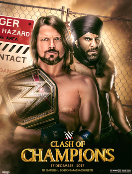 WWE Clash Of Champions Poster 2017 by workoutf