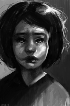 Sad little girl by ZLGM