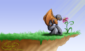 To Stop And Smell The Flower by MuddyTiger